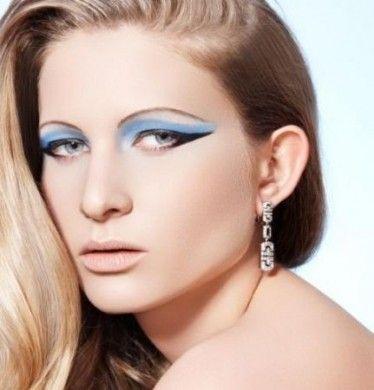 Trucco occhi azzurro