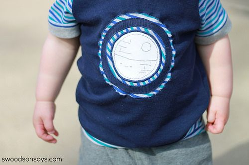 Swoodson Says  –  Embroidered Death Star Snappy Tee – Muse of the Morning Blog Tour