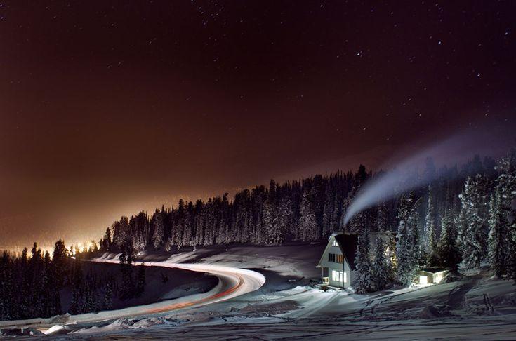 Ergaki, Krasnoyarsk Krai, Russia: Lights, Stunning Photography, Alexander Nerozya, Travel Photos, Winter Photography, National Geographic, Winter Wonderland, Photography Tips, House