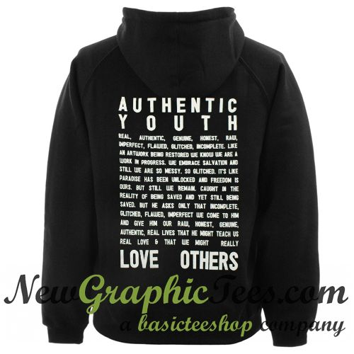 about Authentic Youth Hoodie Back from newgraphictees.com This hoodie is Made To Order, we print the hoodie one by one so we can control the quality.