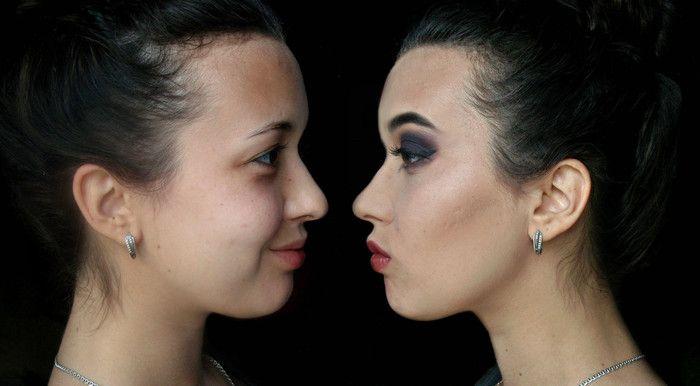 необычный арт-макияж