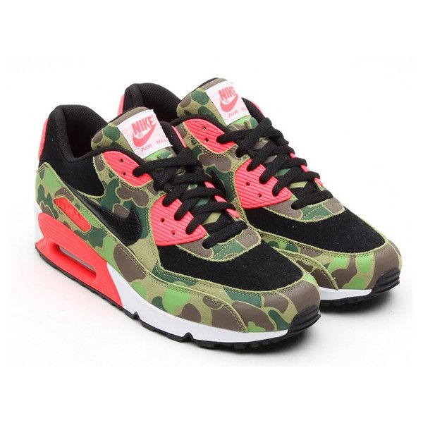 """Nike Air Max 90 """"Infrared Duck Hunter"""" ❤ liked on Polyvore featuring shoes"""