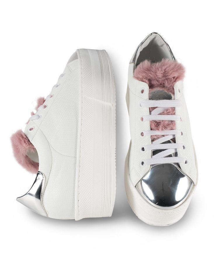 GRUMMAN sneaker for special stylish  girls... White-Nude