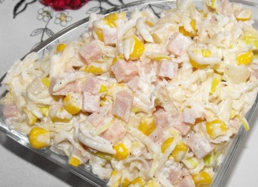 Sałatka z selera ,ananasa i szynki