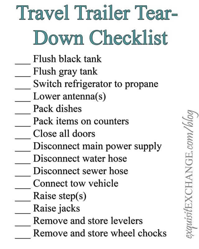 picture regarding Printable Rv Setup Checklist referred to as RV Established-Up and Tear-Down Checklists Superb Glamping for