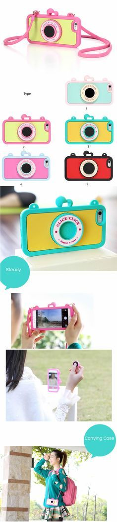 Camera Soft Silicone Case For iPhone 6/plus - Built in Wireless Camera Shutter Selfie Bluetooth Remote