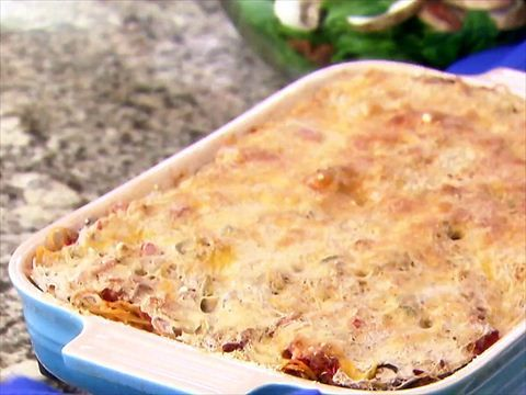 Chicken Tetrazzini Recipe : Giada De Laurentiis 4 videos | Chicken Tetrazzini (06:20) Total Time: 1 hr 35 min Prep: 35 min Cook: 1 hr Yield:6 to 8 servings Level:Intermediate
