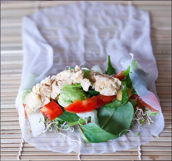 Rice Paper Rolls Filled With Yummy Goodness
