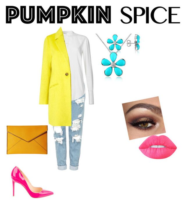 """Pumpkin Spice Latte"" by hilary-salazar ❤ liked on Polyvore featuring Topshop, Del Gatto, Helmut Lang, Therapy, Christian Louboutin, Rebecca Minkoff, Lime Crime, starbucks, pumpkin and THEMOST"