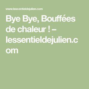 Bye Bye, Bouffées de chaleur ! – lessentieldejulien.com