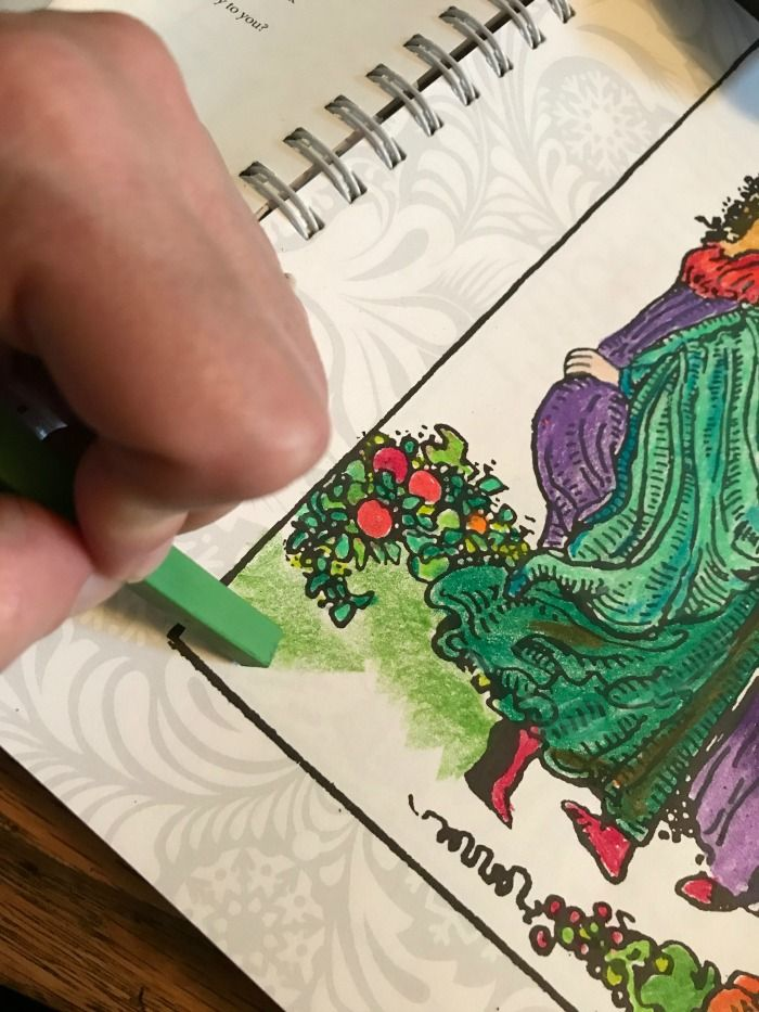 How To Bling The Tarot Coloring Book Prismacolor Colored Pencils Art Stix Coverage Adding A Bit Of Texture To T Coloring Books Prismacolor Colored Pencils
