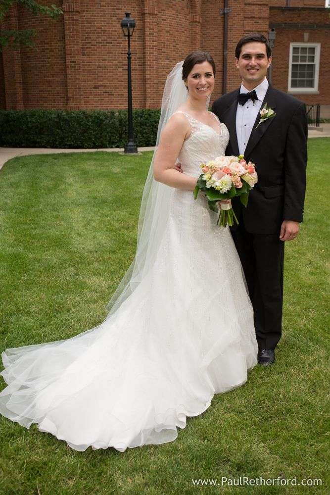 Awesome our lady of perpetual help church photo with bride and groom flowers by four finches in And DressesFinchesIllinoisGroomsWedding Photography