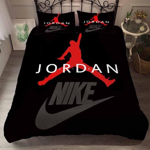 Black Red Jordan Bedding Set Duvet Bedding Sets Bedding Sets Designer Bed Sheets