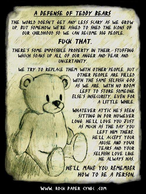 Winkie: A book about a terrorist teddy bear.