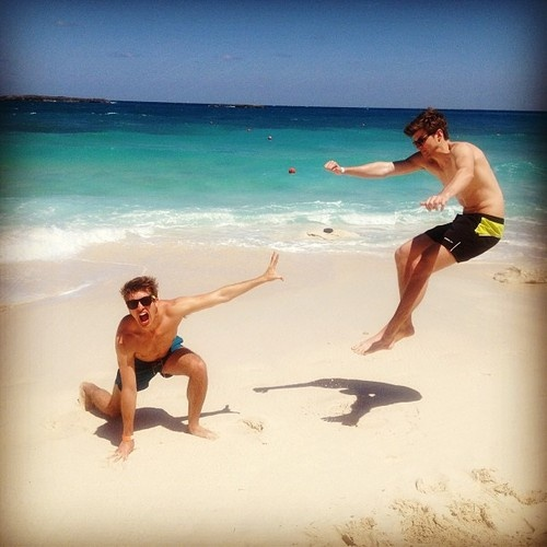 Joey and Jim chapman in the bahamas