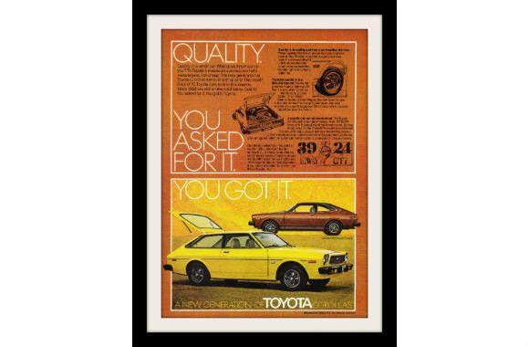 1976 Toyota Corolla Car Ad, Vintage Advertisement Print