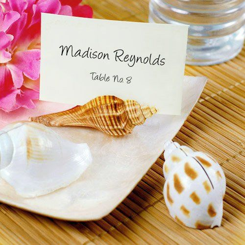 Natural Seashell Place Card Holders by Beau-coup