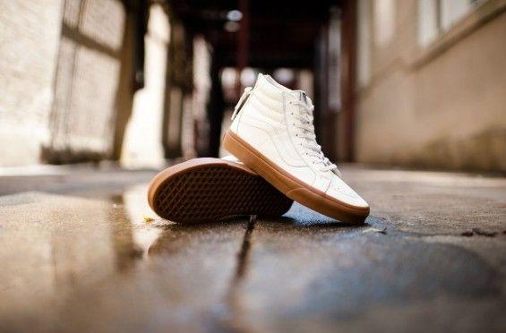 A Premium Leather Upper And Gum Sole Partner Up On The Vans SK8-Hi Zip on http://SneakersCartel.com   #sneakers #shoes #kicks #jordan #lebron #nba #nike #adidas #reebok #airjordan #sneakerhead #fashion #sneakerscartel