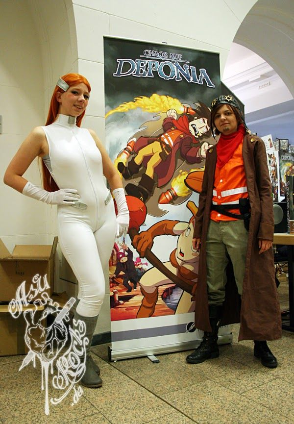 Chaos on Deponia: Rufus and Goal Cosplay
