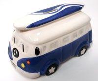 Ceramic VW Bus Style Piggy Bank (http://www.caseashells.com/ceramic-bus-bank/)