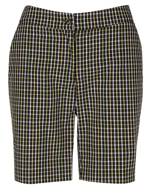"""Calypso (Black) Greg Norman Ladies 19"""" Plaid Golf Shorts! Find the best ladies outfits at #lorisgolfshoppe"""