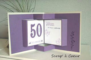 Scrap' à Coeur: Un anniversaire violet et blanc