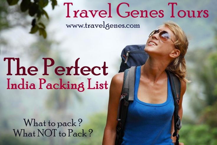 What to pack and what NOT to pack for your India tour? The perfect India packing list which we recommend on our travel genes tours. For India less is more..