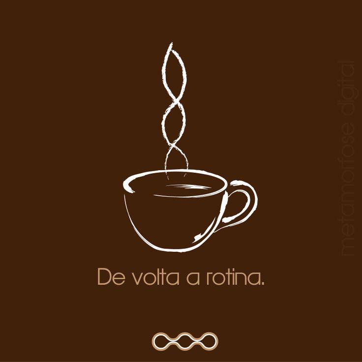 Postagem sobre café e o retorno das férias de fim de ano. https://www.facebook.com/metamorfosedigital
