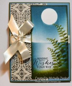 Lake Side Ferns - Stampin' Up! card created by Michelle Zindorf using the Butterfly Basics Stamp Set