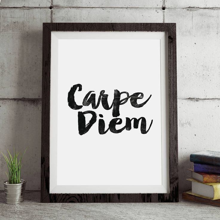 Carpe Diem http://www.notonthehighstreet.com/themotivatedtype/product/carpe-diem-inspirational-typography-print Limited edition art print, order now!