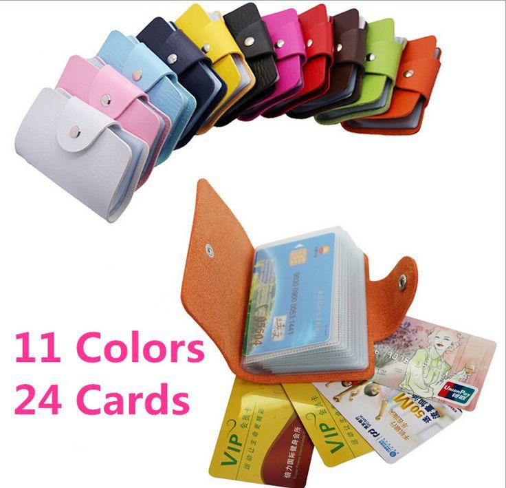 Business Credit Card Wallet Holder Bags PU Leather Buckle Bank Card Bag 24  ID Card Cover Bank Multi-functional Cover BB071-SZ >>> Prodolzhit' k produktu po ssylke izobrazheniya.