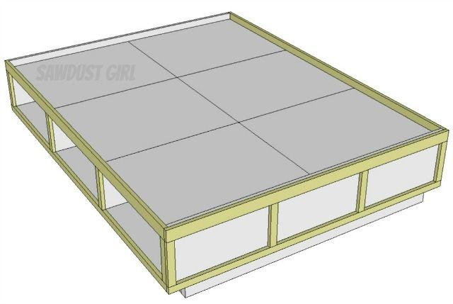 Cost Way Queen Sized Platform Bed
