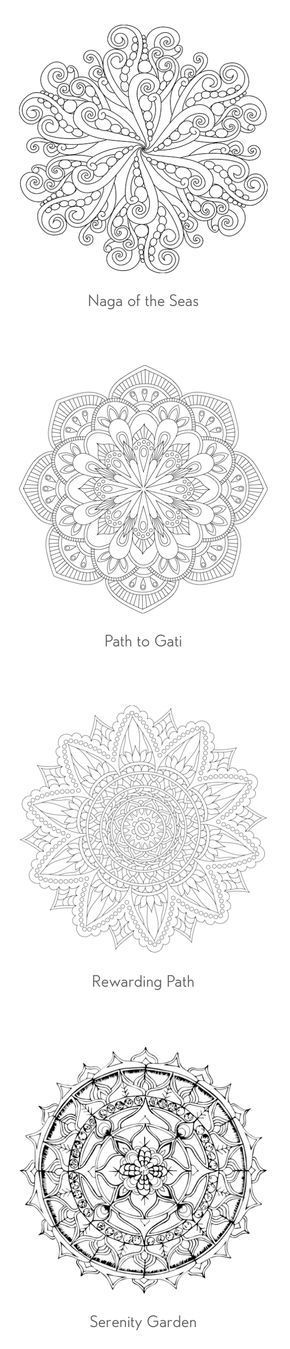 Over 90 free coloring pages of mandalas!