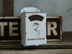 Cendrier mural Rupsso, deco brocante, Antic Line