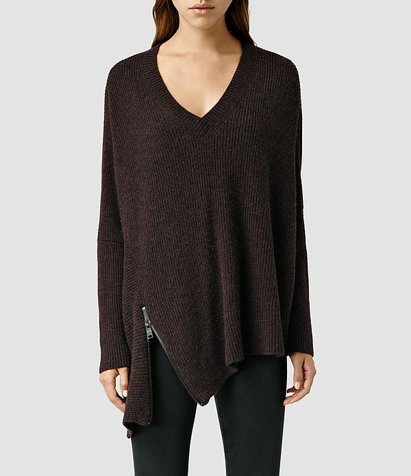 Womens Able Zip Sweater (Mist Marl) - product_image_alt_text_1