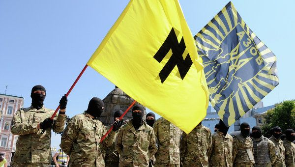 "Glorification #nazisme: #Onu condamne, sauf #Ukraine, #USA et #Canada http://fr.ria.ru/world/20141122/203048819.html #politique #international #stratégie #fascisme (Le bataillon ""Azov"")"