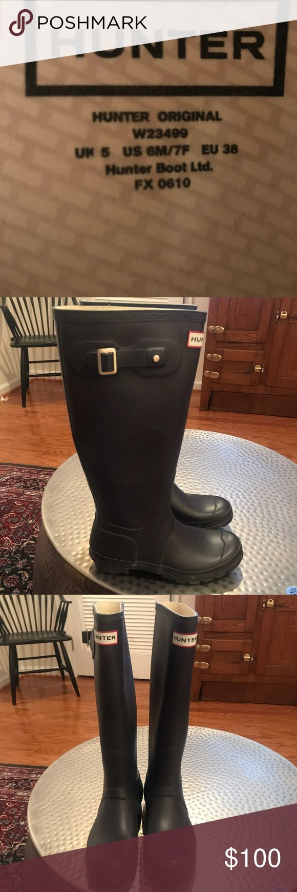 Original tall hunter rain boots plum purple size6 Great condition original hunter rain boots, only worn 5 times! Hunter Boots Shoes Winter & Rain Boots