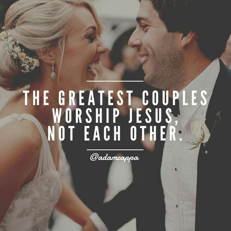 The greatest couples worship Jesus, not each other. {Adam Cappa Quote}