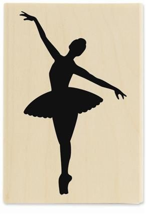 Ballerina silhouettes - Maybe I could trace onto pretty scrapbook paper and glue on white paper?