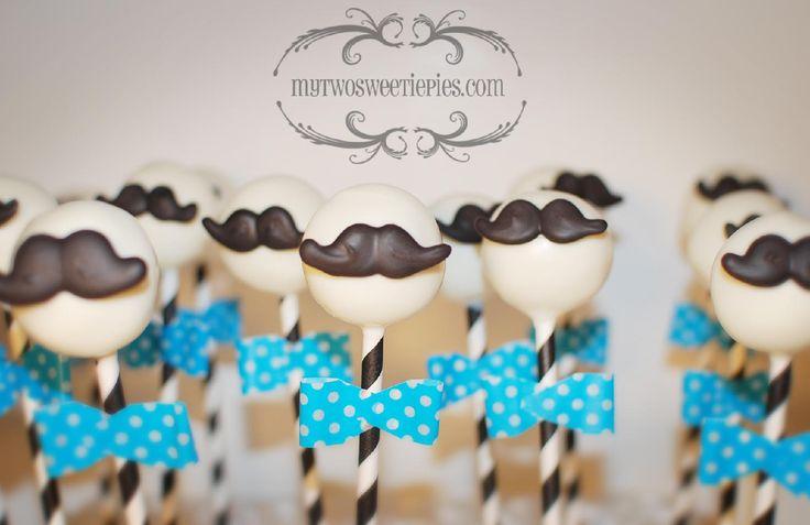 mustache cake pops - Google Search
