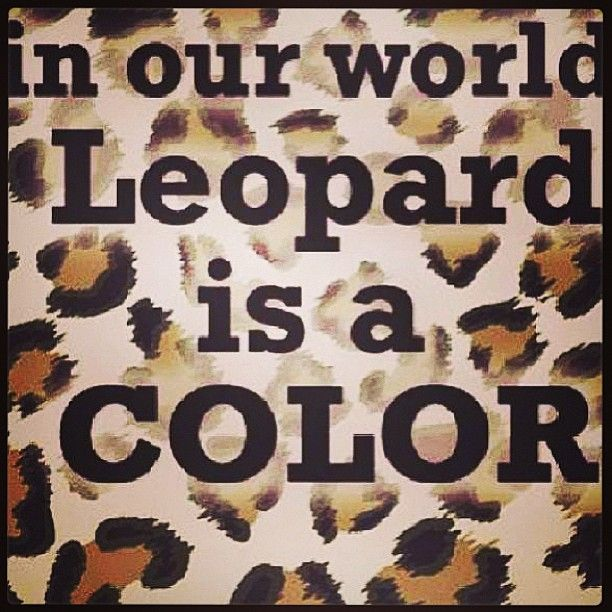 Leopard IS a color!