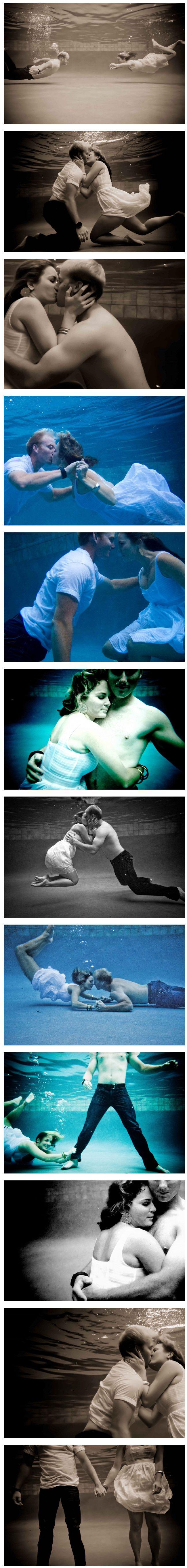 Under water engagement pictures | Brandon & Erica Photography | brandonerica.com