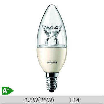 Bec LED Philips LEDCandle B38FR 3.5-25W, E14, 15000 ore, lumina calda, 871829177824000