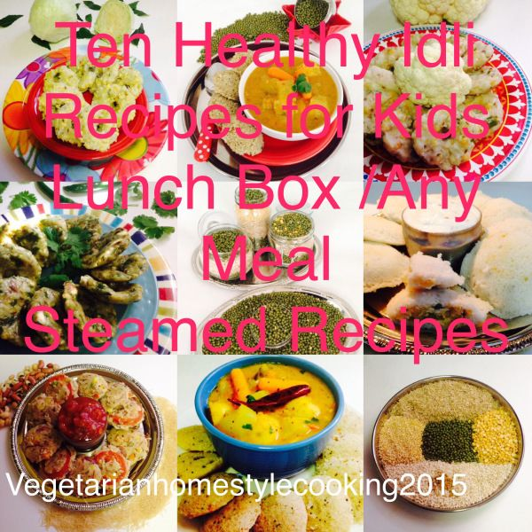 TEN HEALTHY IDLI RECIPES FOR KIDS LUNCH BOX /ANY MEAL /STEAMED RECIPES I'm sharing Ten Healthy Idli recipes that you can pack for Kids Lunch Box or for Breakfast. Some recipes are Instant wh…