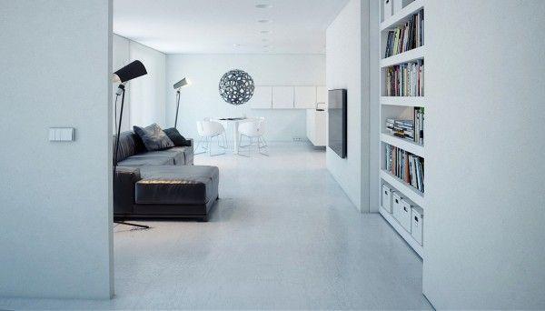 minimalist hidden wall shelves
