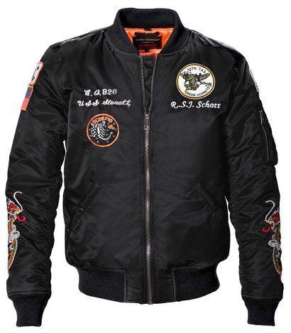 9629 - Men's Nylon Flight Jacket With Patches