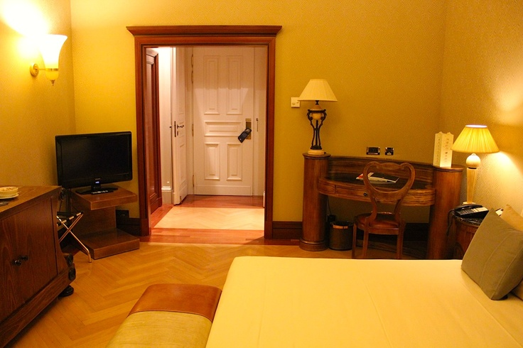 March 17, 2013. The palatial Boscolo Hotel in Prague offers rooms with a modern take on classic opulence.
