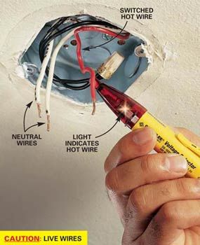 How to Hang a Ceiling Light Fixture- Some important info in here, this will come in handy once we take out the hideous dining room light