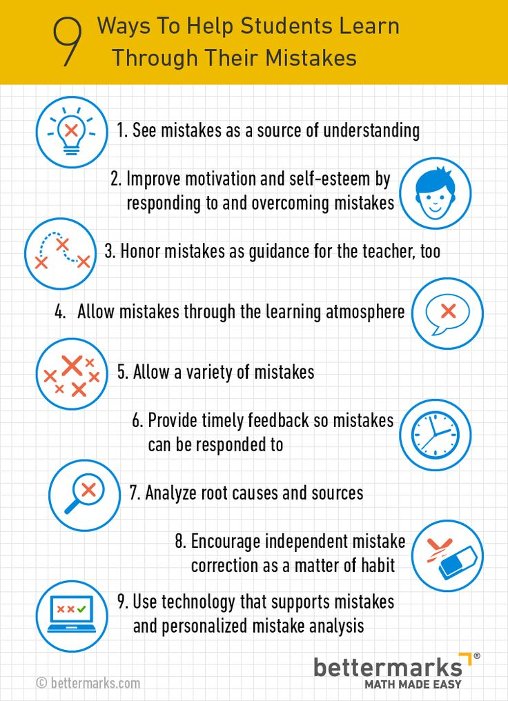 """9 Ways to Help Students Learn Through Their Mistakes via @TeachThought"""
