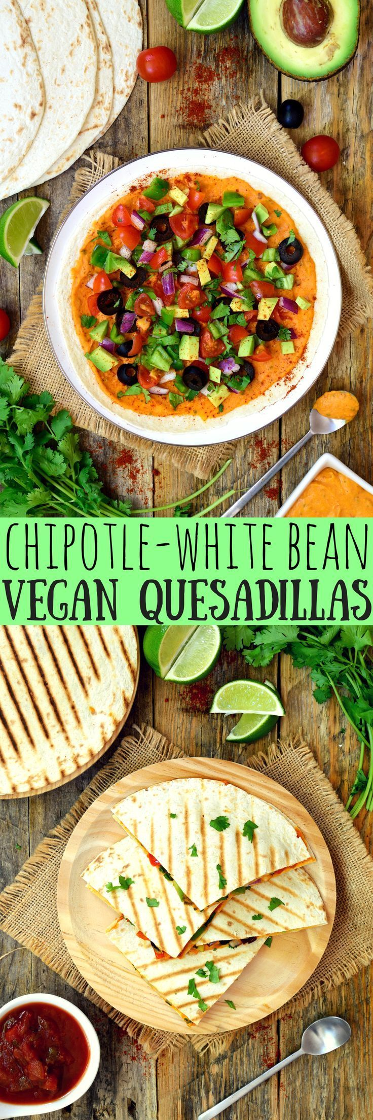 Quesadillas mit Spinatfüllung und Tomatensalsa